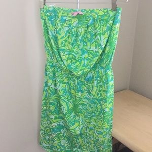 Lily Pulitzer cotton strapless dress